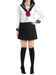 Japanische Schuluniform Kansai Style Schulmädchen Damen Cosplay Kostüm Costume