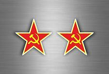2x adesivi adesivo sticker urss stella cocarda urss unione sovietica bandiera