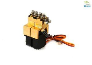 Hydraulik Steuerventil 2-fach Messing mit 12mm Mini-Servos thicon-models