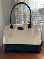 Kate Spade Designer Wellesley Hang Bag Off White & Black