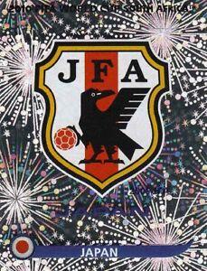 Panini Sticker Fußball WM 2010 Nr. 373 Japan Wappen / Logo Glitzerbild NEUWARE