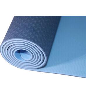 KAWA Sports Yoga Mat, Anti Tear, TPE, Free Carry Strap, Non-Slip, Eco Friendly