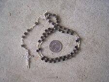 Medium Rosary with Square Block Hematite Beads - Mexico