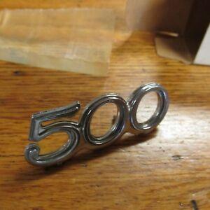 """NOS 1973 1974 FORD GALAXIE 500 CUSTOM 500 """"500"""" TRUNK DECKLID EMBLEM NAMEPLATE"""