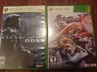 Lot Of 2 Xbox 360 Games Soul Calibur V and Halo 3 ODST