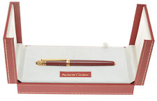 Cartier Pasha vintage 1990 fountain pen burgundy red lacquer new pristine w/box