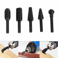 5pcs/Set 1/4'' Drill Bit Set Cutting Tools For Woodworking Knife Wood Carving