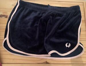 Fred Perry Velvet Skirt Retro 12 Draw String Middle Navy Blue