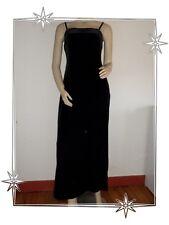 Un- Vestito Lungo da sera di velluto Nero Esprit Collection Taglia L