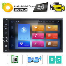 """7"""" GPS Android 8.0 Double Din Car Stereo Navi Radio 8-Core Multimedia Bluetooth"""