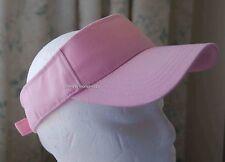 Red or Pink Visors - Adjustable Summer Canvass Hat  / Light Summer Hat /  NWT