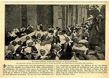 Haarmarkt in der Bretagne im Norden Frankreichs Tauschmarkt Haar gegen Tuch 1907