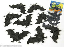 8 Pack of Fake Rubber Halloween Bats Scary Creatures Accessories
