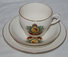 More details for wade - queen elizabeth ii coronation - trio of tea cup, saucer & side plate