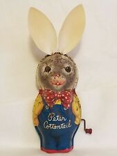 Vintage Peter Cottontail Tin Toy Wind Up Original Ears! Mattel