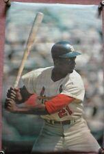 1968 Sports Illustrated Poster SI Curt Flood St Louis Cardinals Baseball MLB