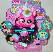 SCRUNCHMIEZ Scrunch Miez COCO Plush Pink UNICORN HAIR SCRUNCHIE Backpack Clip