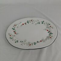 "Pfaltzgraff Winterberry 14 1/4"" x 10 1/2"" Serving Platter Christmas Holiday"