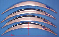 Set of 4 Car Wheel Arch Extensions.Chrome ABS Car Wheel Arch Trims, NO Drilling
