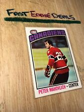 TOPPS HOCKEY 1976-77 PETER MAHOVLICH CARD 15 MONTREAL CANADIENS EXCELLENT