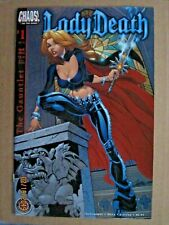 2002 CHAOS COMICS LADY DEATH: THE GAUNTLET #1 & #2 LOT OF 2 SCOTT CAMPBELL COVER