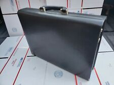 TUMI Vintage Leather Executive Hard Case Briefcase Business Travel Bag