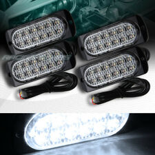 48 LED WHITE CAR EMERGENCY BEACON HAZARD WARN FLASH STROBE LIGHT BAR UNIVERSAL