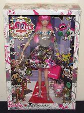2015 Tokidoki Barbie Doll NIB #CMV57 Pink Hair Tattoos Black Label