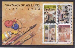 SRI LANKA MNH STAMP SHEET 1999 SRI LANKAN PAINTINGS SG MS1467