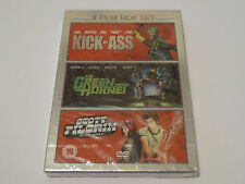 Kick Ass / The Green Hornet / Scott Pilgrim - NEW / SEALED GENUINE UK 3x DVD SET