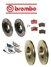 Volkswagen Jetta 99-05 Brake Kit Front+Rear Brake Rotors with Pads Brembo OEM