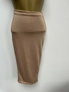 OH POLLY Gold Bodycon Skirt - Size 4