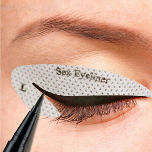4Pcs Card Draw Eye Template Quick Tool Eyeliner Eyeshadow Stencil Stickers Mould