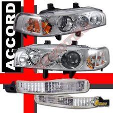 1992 1993 Honda Accord Chrome Projector Headlights 1pc Style & Bumper lights