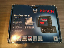 Laser Bosch Professional croix auto 2 lignes 15m GLL 2-15 0601063701 NEUF