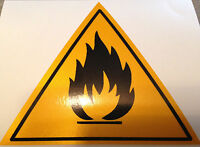 STICKER DANGER RADIATIONS RETRO REFLECHISSANT SECURITE visible de nuit radiation