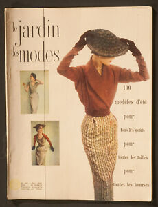 'LE JARDIN DES MODES' FRENCH VINTAGE MAGAZINE SUMMER ISSUE MAY 1950