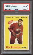 1959 Topps #8 Alex Delvecchio *Red Wings* PSA 8 NM-MT #41558562