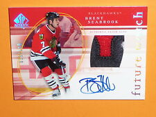 05-06 SP Authentic Brent Seabrook RC Auto Future Watch Patch 15/100 3CLR FW