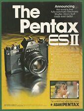 Asahi PENTAX ES II camera - 1974 Vintage Print Ad