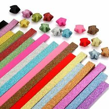 Origami Paper Stars Glitter Folding Lucky star Strips,16 Colors 250 Sheets EB4