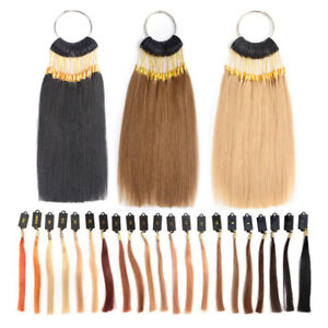 100% Remy Human Hair Hair Swatches for Testing Color Hair Color Sample Rings