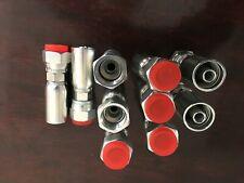 10 Pk Fjx 08 08 12 Hose X 8 Jic 37 Female Swivel Hydraulic Hose Fitting