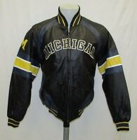 Michigan Wolverines Men's S-3XL Full-Zip Embroidered Leather Jacket NCAA A11TRF