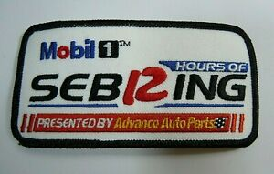 """12 Hrs.of Sebring Embroidered Iron-On Patch 4.25"""" Sebring Florida IMSA"""