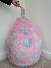 COVER ONLY Bean Bag Faux Fur 3 Cubic Ft Size Children's Pink ABC Bean Bag New