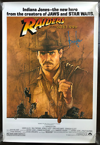 Harrison Ford Indiana Jones Original Signed Poster. Coolwaters. Beckett Witness.
