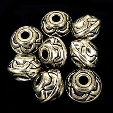 10 x CCB Plastic Large Focal Silver Spacer Beads Large Hole 20x15mm NP25
