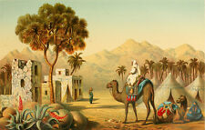 """perfect oil painting handpainted on canvas """"Arab riding on a camel""""@NO7705"""