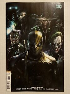 DEATHSTROKE #36 B VARIANT FRANCESCO MATTINA NM/NM+ JOKER TWO-FACE SCARECROW